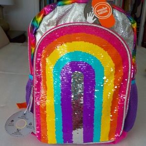 Rainbow BackPack w/Magic Sequin on Front NWT